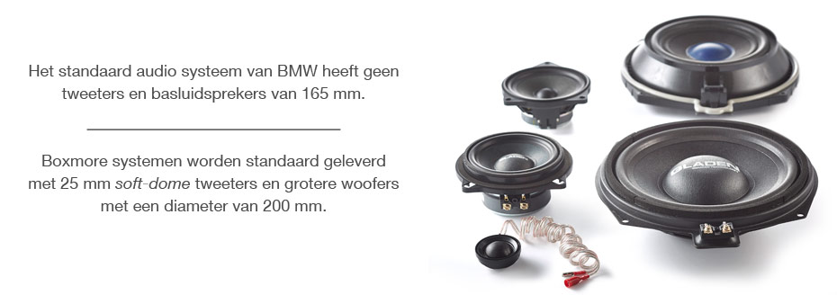 BMW OEM Speakers vs. Gladen Boxmore
